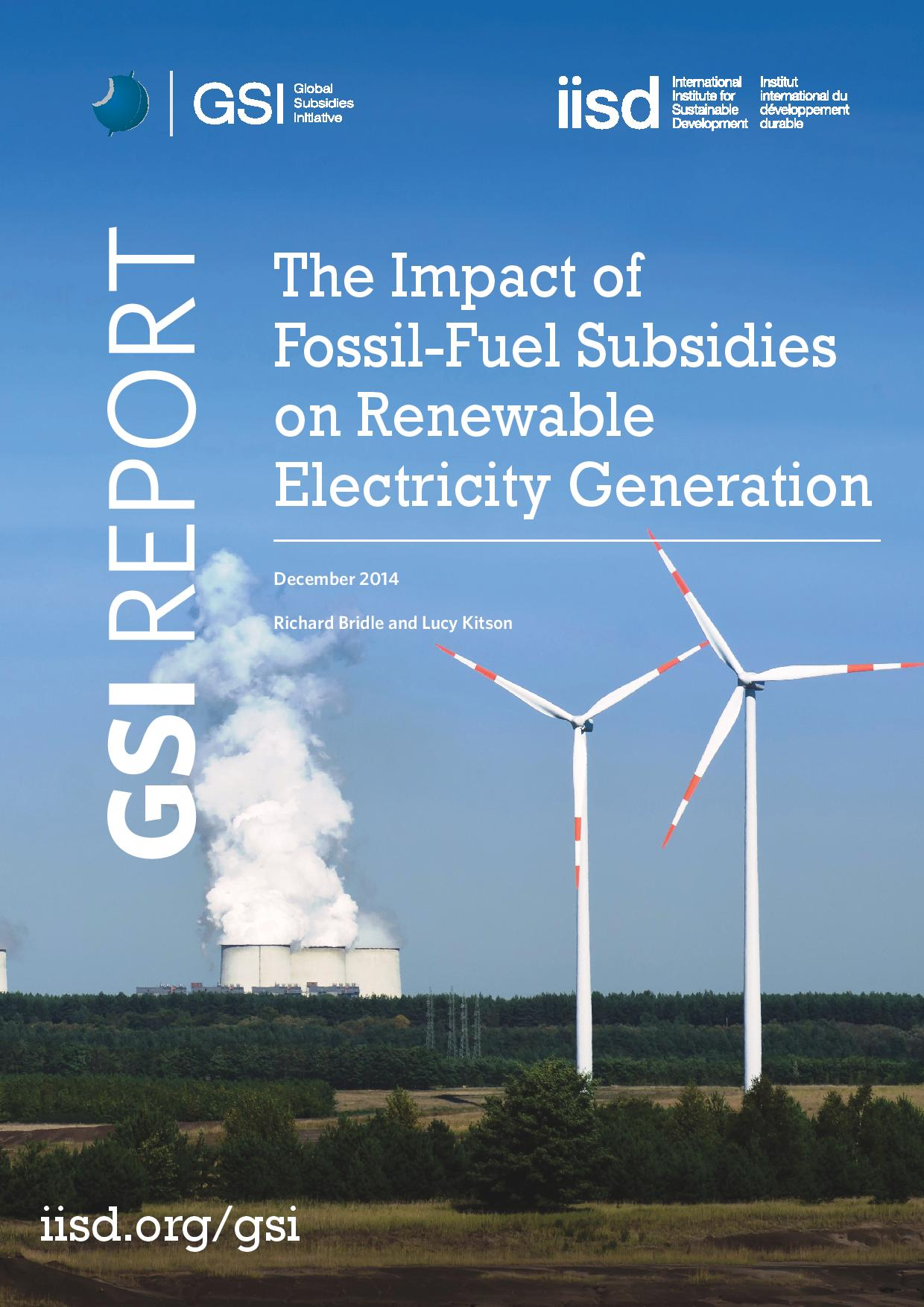 The Impact of Fossil Fuel Subsi s on Renewable Electricity